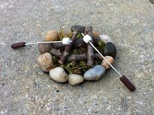 "Dollhouse Miniature Marshmallow Sticks for Firepit Camping Fairy Garden 1"" 1:12"