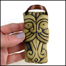 Little Gargoyle Arrow Tongue Wall Hanger by Zoo Ceramics - Pottery Plaque Tile