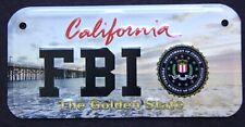 CALIFORNIA FBI METAL SIGN