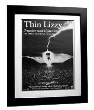 THIN LIZZY+Thunder+POSTER+AD+RARE+ORIGINAL 1983+QUALITY FRAMED+FAST GLOBAL SHIP
