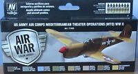 Vallejo Model Air VAL71183 WW2 USAAF Mediterranean Theatre 8 colour paint set