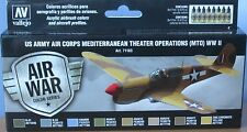 Vallejo Model Air VAL71183 WW2 USAAF Mediterranean Theatre 8 colour paint set