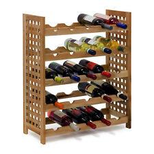 Weinregal Holz Walnuss geölt Weinflaschenregal 5 Ablagen 25 Flaschen stapelbar