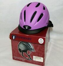 NEW Authentic Tipperary 8500 Sportage Helmet - Purple, S, English and Western