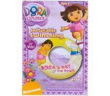 Inflatable Swim Ring DORA & Boots Yellow Age 3+ New