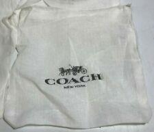 1 COACH WHITE COTTON DUST BAG; Small; Black Logo; Drawstring
