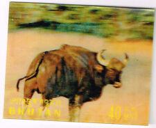 Bhutan Fauna Buffolo 3D stamp 1969 MLH