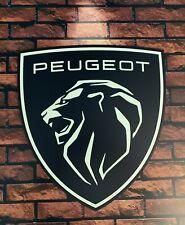 ENSEIGNE logo 2021 PEUGEOT ( 50 cm x 45 cm )