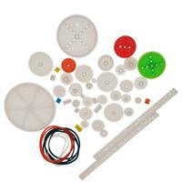 Blesiya 62 Kinds Gearbox Motor Wheel Axle Gear Set For DIY Car Toy Gear Kit