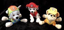 Paw Patrol Marshall Rocky Rubble Plush Stuffed Animal Toy Lot