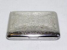 Antique Sterling Silver Chased Art Nouveau Cigarette Vesta Card Case Germany