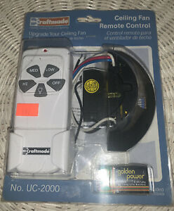 New Craftmade SC2000 Remote Control for Ceiling Fan and Light Wall Mount - White