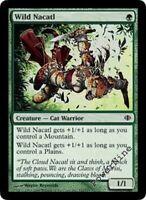 4 FOIL Wild Nacatl - Green Shards of Alara Mtg Magic Common 4x x4