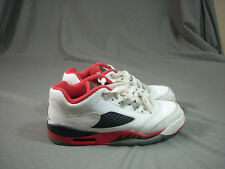 Nike Air Jordan 5 Retro Low GS Size 6Y Fire Red White