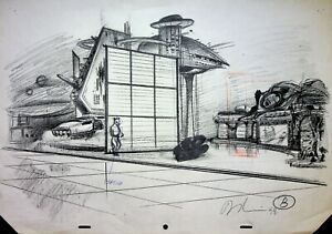 STAR WARS EP1 THE PHANTOM MENACE Davy Liu SIGNED Production Concept Art #YL 10
