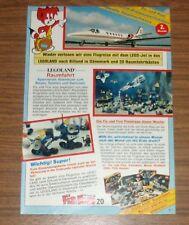 Seltene Werbung LEGOLAND Lego Space Raumfahrt Baukästen Gewinnspiel #2 1984