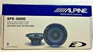 """ALPINE SPE-6000 6.5"""" CAR AUDIO 480W 2-WAY SILK TWEETERS 6 1/2"""" COAXIAL SPEAKERS"""