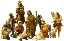 Weihnachtskrippe Krippenzubehör Krippenfiguren  11-teilig handbemalt ca 8,7 cm