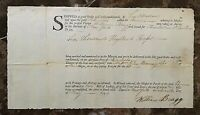 ORIGINAL - PORT of NEW YORK - BILL OF LADING (FEDERALIST ERA) c.1796
