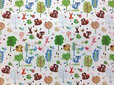 Vi Bosco Scoiattolo cotone tela bambini Curtain Dressmaking Craft tessuto