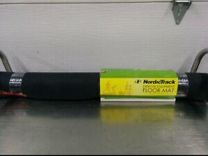 NORDICTRACK 15312 EXERCISE EQUIPMENT FLOOR MAT, 3' x 6' x 4mm, BLACK, NIB