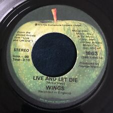 *PAUL MCCARTNEY & WINGS* Live And Let Die / I Lie Around, Apple Records 45!
