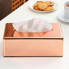 Rose Gold Tissue Box Paper Case Creative Elegance Tissue Holder Home Decor