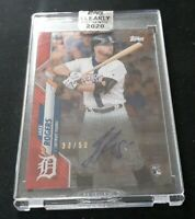 C78 JAKE ROGERS 2020 TOPPS CLEARLY AUTHENTIC RED AUTO AUTOGRAPH RC # /50 TIGERS