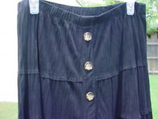 COLDWATER CREEK - Black Skirt - GUC - Size M - Polyester Suede - Full Circle