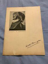 1936 Walter Hampden in Cyrano de Bergerac Theater Souvenir Program