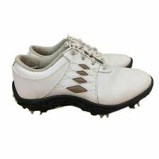 Footjoy Junior - White/Taupe Argyle Golf Shoes (FJ# 45065) US 4M