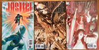 DC COMICS Justice #7, 8, 12 - Lot Of 3 Comics - (Alex Ross, 2006-2007, VF 8.5+)