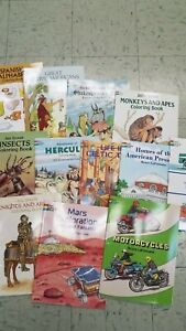 LOT Of 10 DOVER COLORING BOOKS
