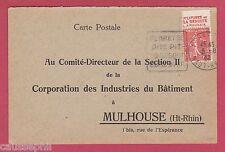 es - Carte Postale franco-allemande Accident du Travail 1932