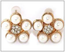 Pearl Rhinestone Fashion Earrings