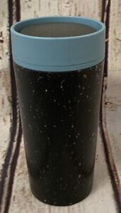rCup Black & Teal Blue Reusable Coffee Cup And Travel Mug  340ml