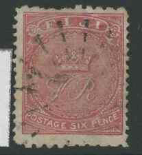 Fiji SG48a 1881 6d pale rose Used