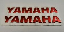 YAMAHA 3D RED BADGE LOGO STICKERS GRAPHICS DECALS SUPERBIKE R1 R6 MT01 MT07 YZF