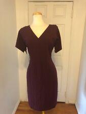 NWT Maroon Ann Taylor Work Sheath Dress Size 12