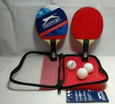 Slazenger Table Tennis Set 2 Racquets Bats 3 Balls Carry Bag Ping Pong Game