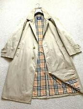 RARE Vintage Men's BURBERRYS' Trench Coat Jacket Mac Nova Check SZ 52 L XL Beige