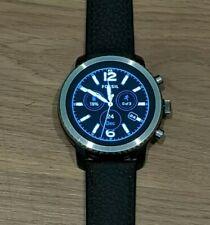 Fossil Q Explorist Gen 3 45mm Blue and Black Leather Smartwatch - FTW4004