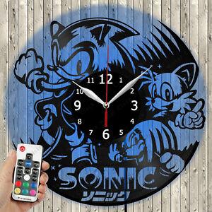 LED Clock Sonik LED Light Vinyl Record Wall Clock LED Wall Clock 4066