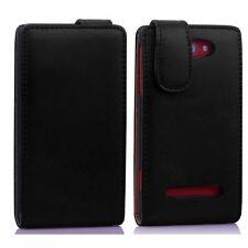 Für HTC 8S 8 S Tasche Flip Case Schutzhülle Hülle Wallet schwarz