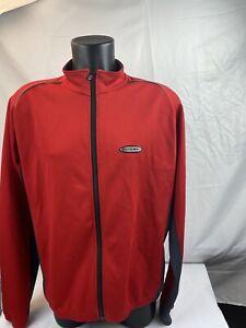 Louis Garneau Men's XL Red Lightweight Zip Up Jacket