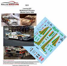 Decals 1/18 réf 1511 Lancia 037 M.Biasion/T.Siviero Monte Carlo 1984
