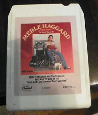 Merle Haggard and the Strangers  8 Track Cartridge Tape (RP)
