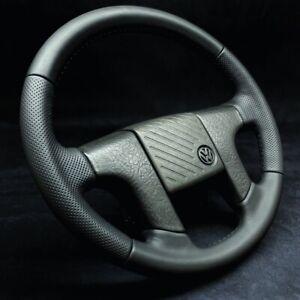 Volgswagen Golf Jetta Caddy Corrado MK2 2 II Steering Wheel Sport VW Leather
