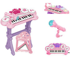Kids Electronic Keyboard Organ Piano With Lights 24 Keys Drums Microphone Toy