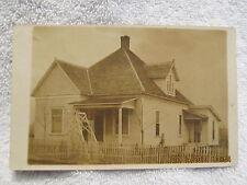RPPC Real Photo Postcard Circa 1900 House in Eldorado IL W/Picket Fence & Swing